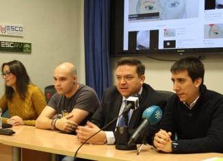 Presentación del magacín digital Cuatro Círculos elaborado por el alumnado de la ESCO. Fotos: Noelia Muñoz