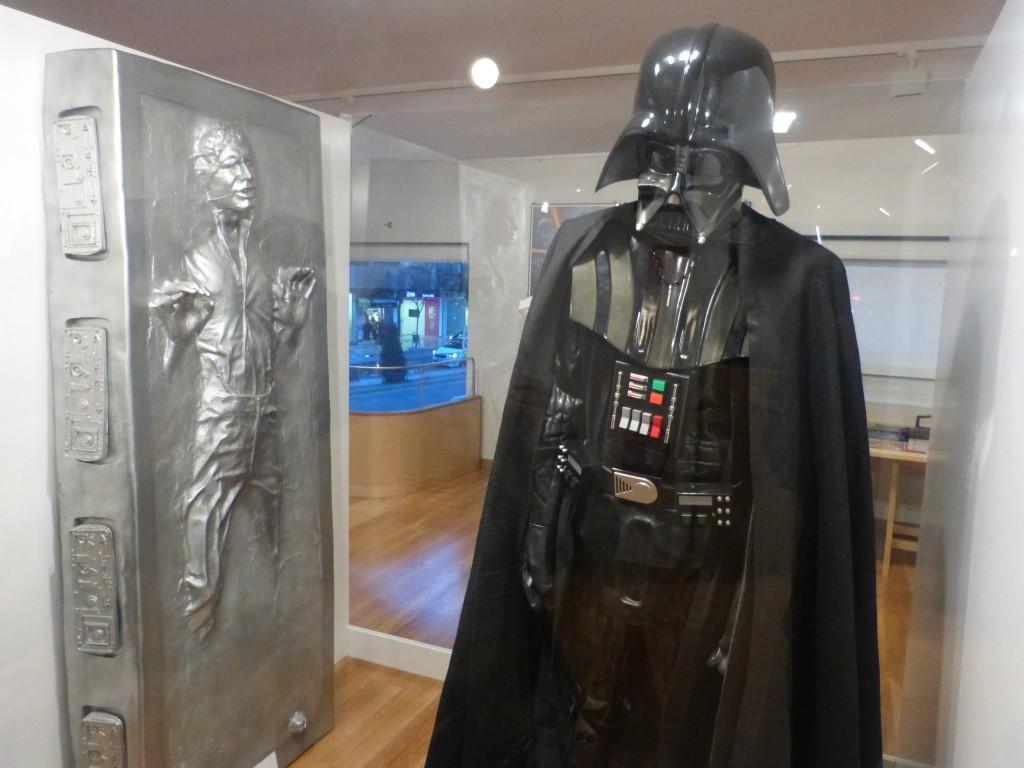 Han Solo y Darth Vader permanecerán en la sala de exposiciones Zaida durante la octava edición de Retroback. Foto: Paula Ruiz