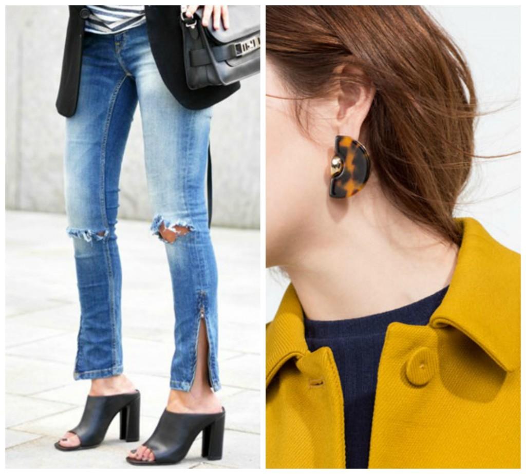 """Vuelven los zapatos tipo """"mules"""" y los maxipendientes. Fotos: Tumblr, Pinterest, Zara, Mango"""