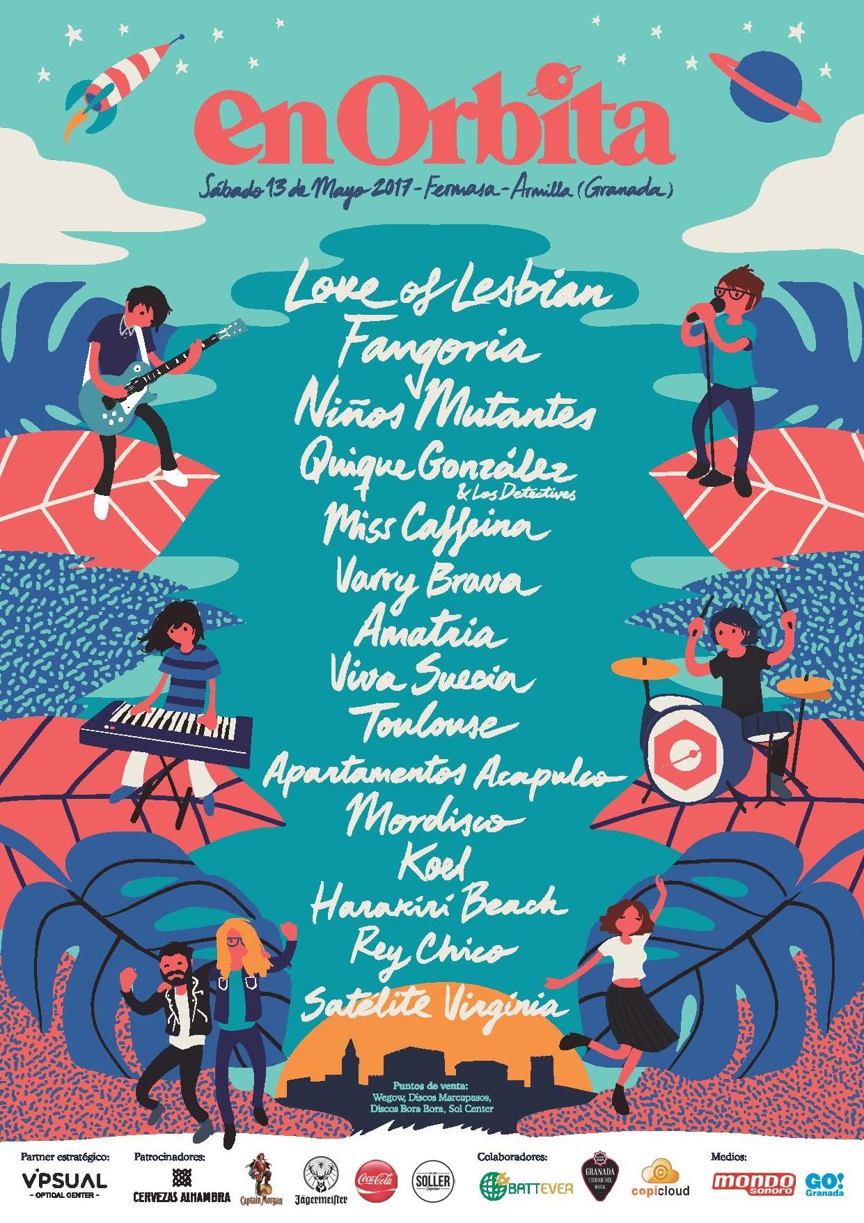 Cartel oficial del Festival En Orbita de Granada