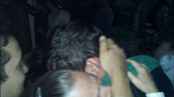Francesco Genovese al salir de prisión en Velezuela