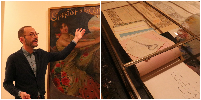 Collage con dos imagénes sobre la exposición