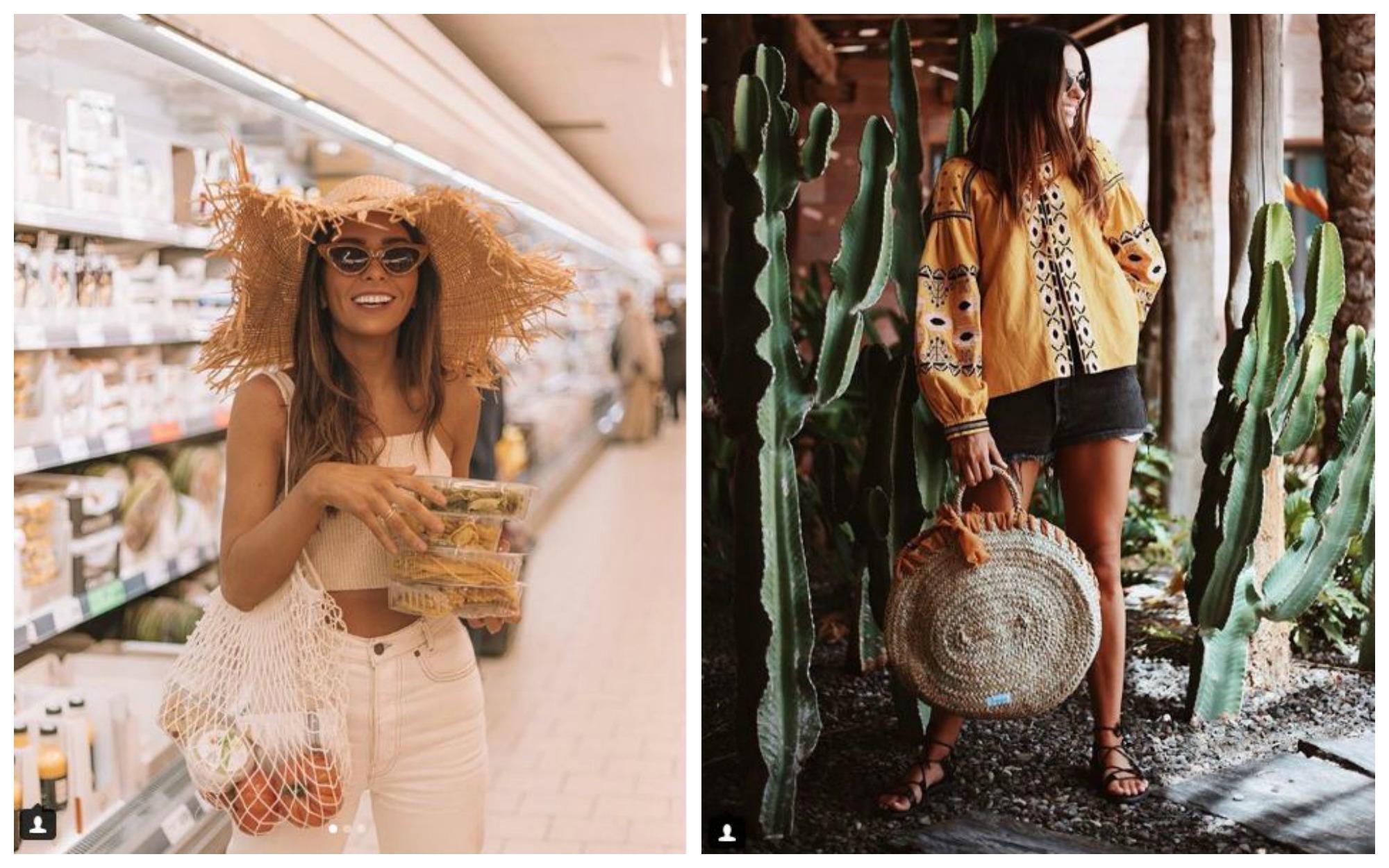 tendencias La influencer combina estos bolsos con prendas étnicas