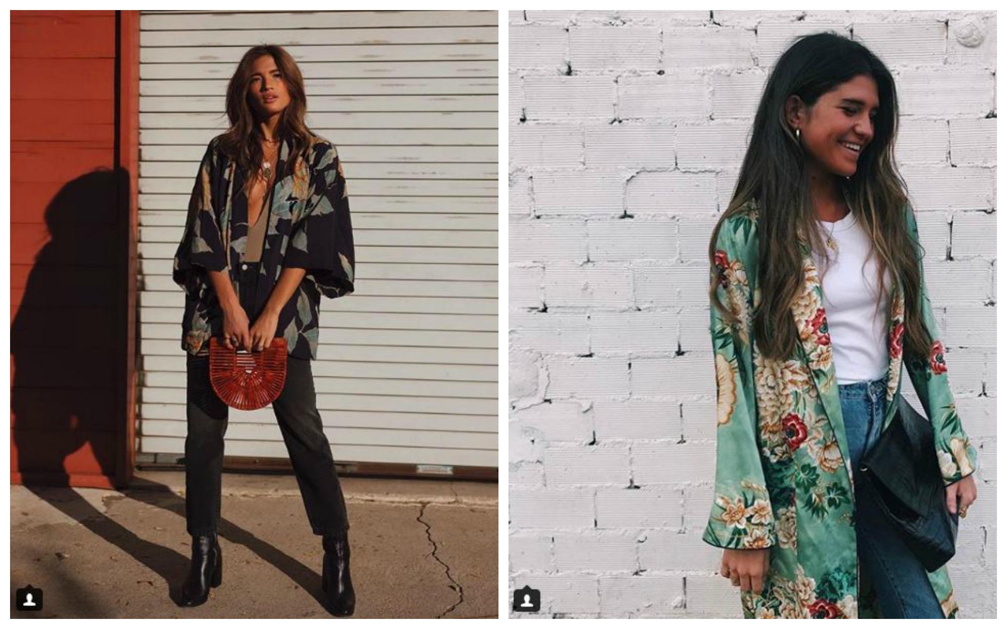 tendencias Kimonos Orientales en diferentes outfits