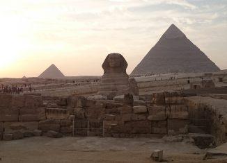 Esfinge de Giza y pirámide de kefren